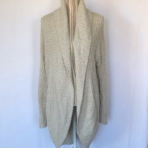 Abercrombie and Fitch waffle knit open cardigan